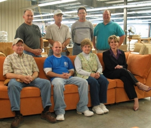 Members Of The Carolina Chair Team Who Built The Furniture For Sipeu0027s  Orchard Home At Their Plant In Conover. From Left To Right Are, Sitting,  Johnny Pope, ...