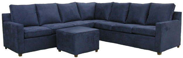 Hall Sectional Sofa - Etzel : navy sectional - Sectionals, Sofas & Couches