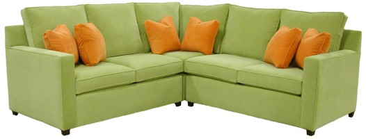 hall sectional sofa klaesen : green sectional sofa - Sectionals, Sofas & Couches