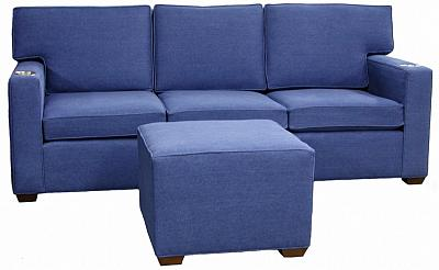 Melissa's denim sectionals with cupholders