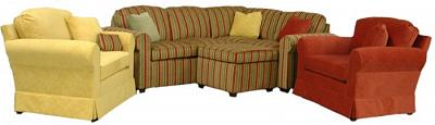 Roth sectional in special request fabric