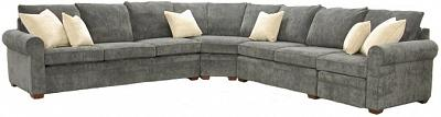 Byron Sectional Sofa - K Brown