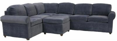 Roth Sectional Sofa - Denim