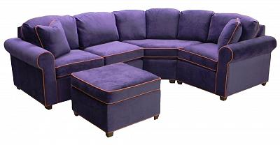 Roth Sectional Sofa - Wood