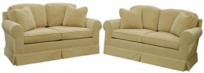 Two Hughes loveseats