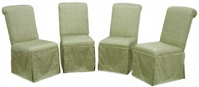 Four Sidney Tall Kick Pleat Parsons Chairs