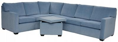 Crawford Sectional Sofa - Mt Zion Azure