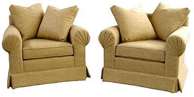 Jenn's Pleated Arm Sofa and Chairs
