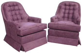 Two Ashberry swivel rockers