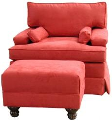 Bishop Chair and Brooke Ottoman