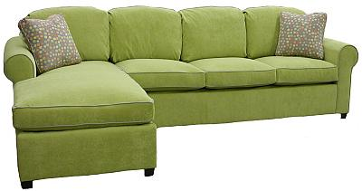 Keri's custom sectional sleeper, loveseat, ottoman