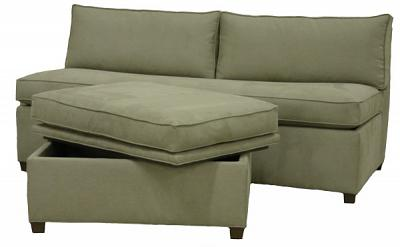 Julie's Custom  Sleeper Sofa and Storage Ottoman