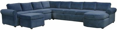 Yeats Sectional Sofa - Dark Blue