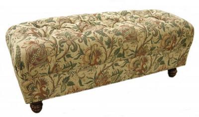 Jean's Custom Tufted Ottoman