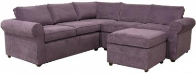 Yeats Sectional Sofa - Purple