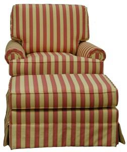Eliot swivel rocker and ottoman