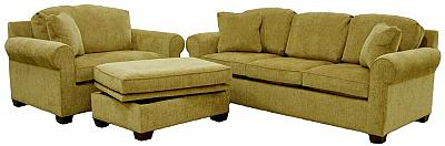 Deborah's Sleeper Sofa and Chair, Storage Ottoman