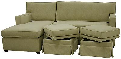Teresa's Custom Sectional with Storage Ottomans