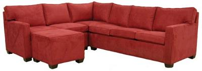 Crawford Sectional Sofa - Red