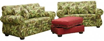Kingsley Loveseats and Storage Ottoman