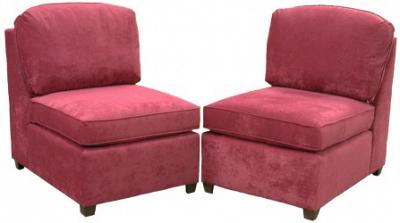 Two Roth armless chairs