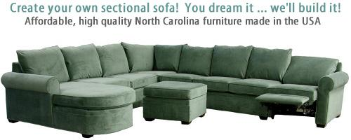 Carolina Chair Custom Sectional Sofa Loveseat north carolina