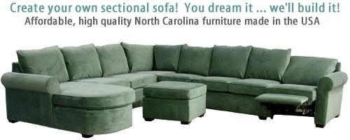 Carolina Chair Custom Sectional Sofa Loveseat North Carolina Furniture  American Made Free Shipping