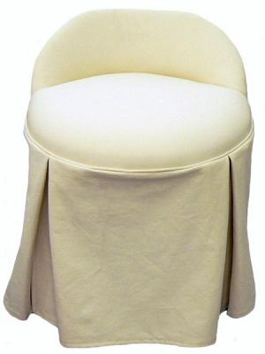 Erin Swivel Vanity Chair with Kick-Pleat Skirt