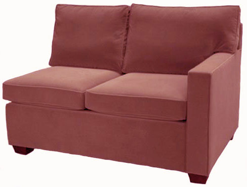 Crawford 1-Arm Twin Sleeper Sofa Right Facing