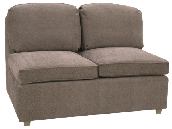 Roth Sectional Armless Twin Sleeper Sofa Carolina Chair