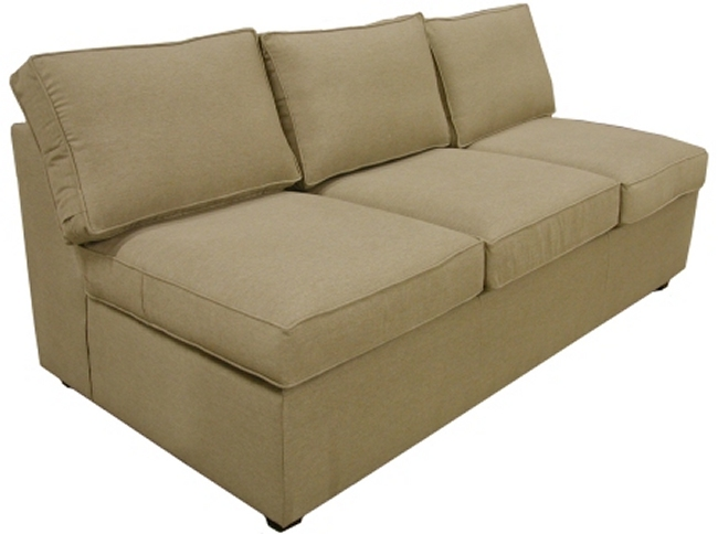 Yeats Armless Queen Sleeper Sofa
