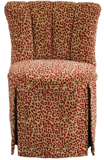 Elizabeth Swivel Vanity Chair With Kick Pleat Skirt