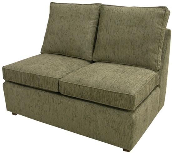 Hall Sectional Armless Twin Sleeper Sofa Carolina Chair