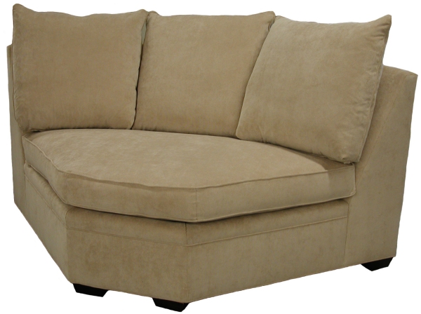 Byron Curved Corner Wedge  sc 1 st  Carolina Chair : rounded corner sectional sofa - Sectionals, Sofas & Couches