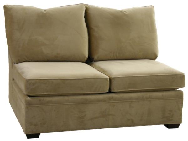 Byron Sectional Armless Twin Sleeper Sofa Carolina Chair North Carolina Amercian Usa Furniture