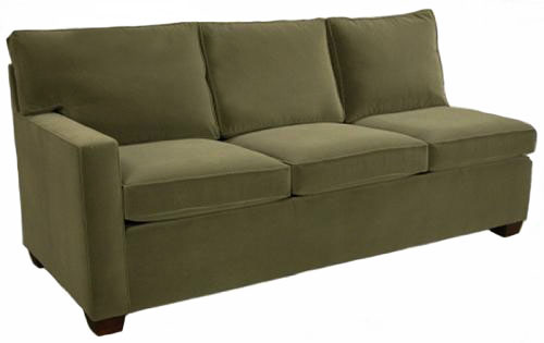 Crawford 1-Arm Queen Sleeper Sofa Left Facing