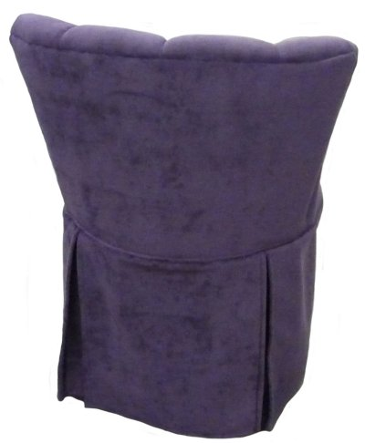 Elizabeth Swivel Vanity Chair with Kick Pleat Skirt Carolina Chair