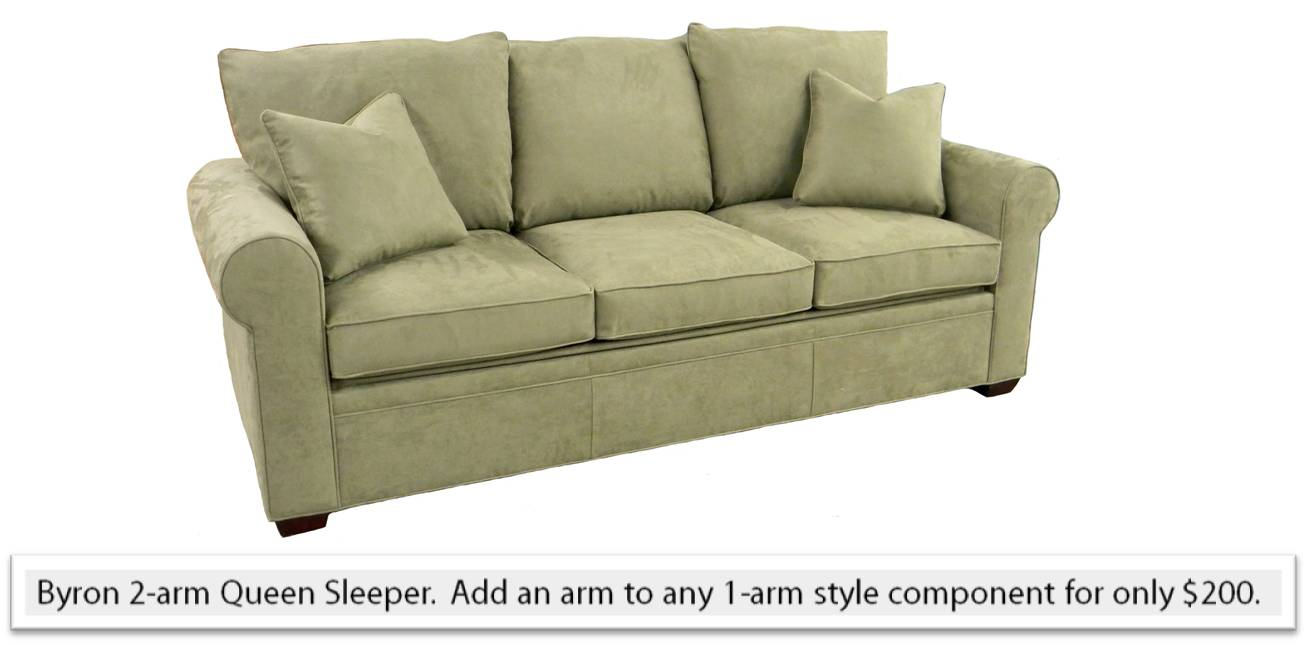 Byron sectional queen sleeper sofa right facing air Air bed sofa sleeper