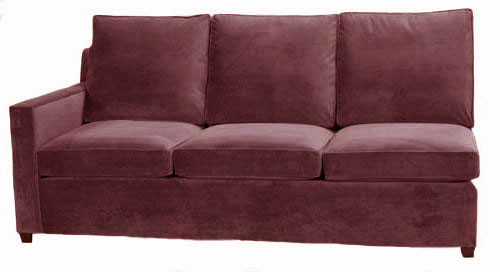 Hall 1-Arm Queen Sleeper Sofa Left Facing
