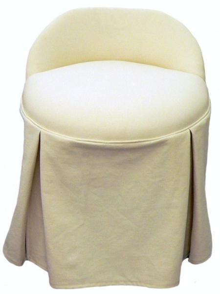 Erin Swivel Vanity Chair With Kick Pleat Skirt Carolina Chair