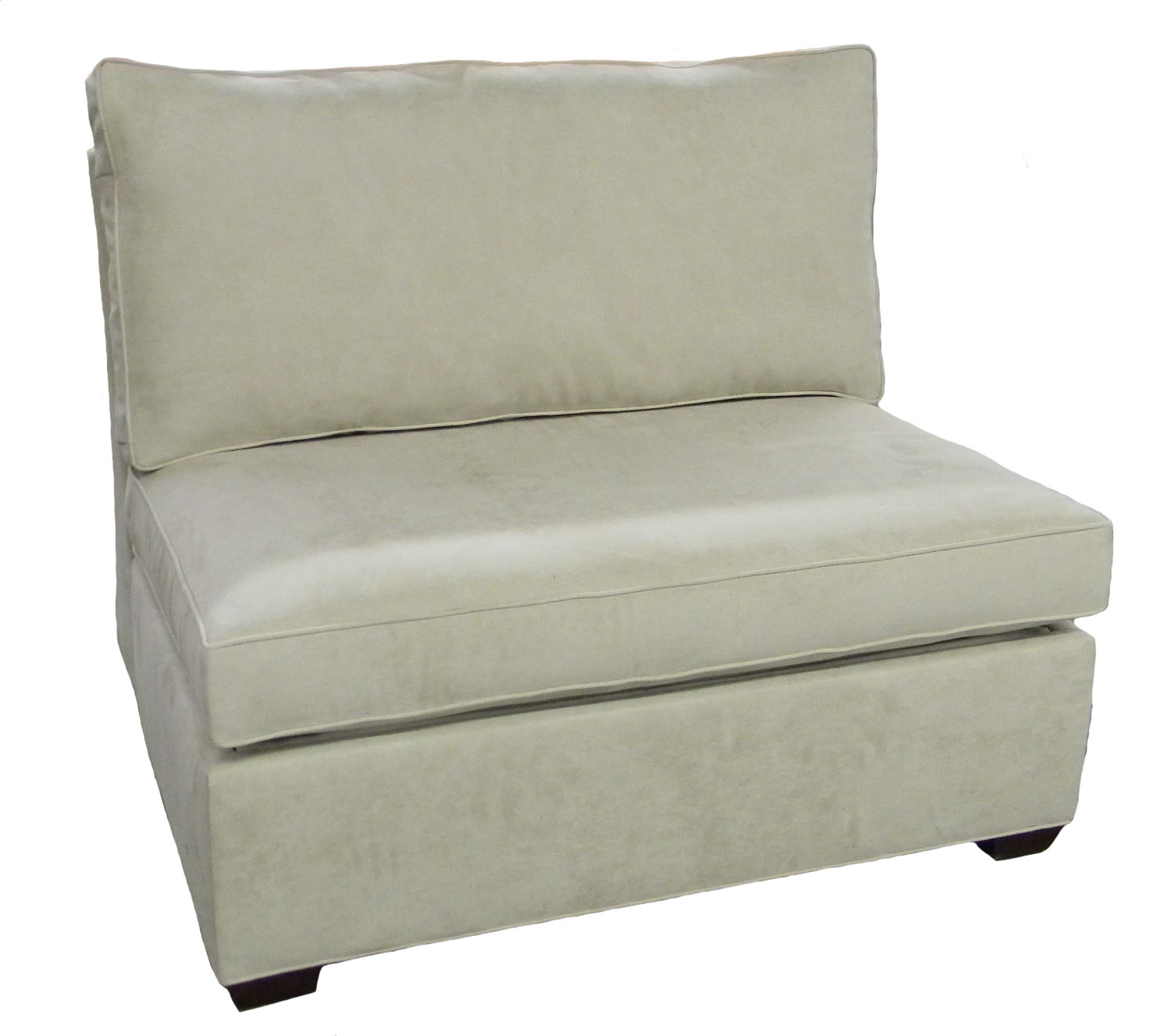 Crawford Sectional Armless Single Sleeper Sofa Carolina Chair