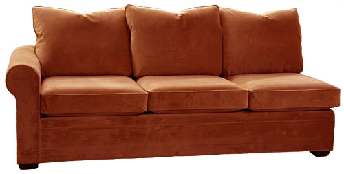 Byron 1-Arm Queen Sleeper Sofa Left Facing