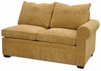 byron 1arm twin sleeper sofa right facing - Twin Sleeper Sofa Chair