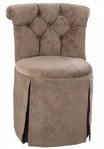 Emily Swivel Vanity Chair With Kick Pleat Skirt